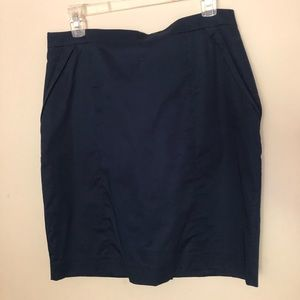 NWT H&M: Tight Fitted Dark Blue Pencil Skirt